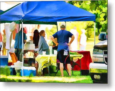 Fresh Organic Food At The Local Farmers Market Metal Print by Lanjee Chee
