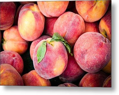 Fresh Peaches Metal Print by Dina Calvarese