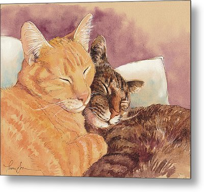 Frick And Frack Take A Nap Metal Print by Tracie Thompson