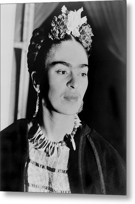 Frida Kahlo 1907-1954, Mexican Artist Metal Print by Everett