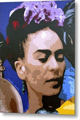 Frida Kahlo Metal Print by Roberto Valdes Sanchez