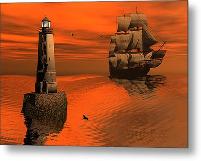 Friendly Beacon Metal Print by Claude McCoy