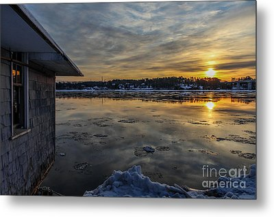 Frigid Sunrise In Maine Metal Print by Joe Faragalli