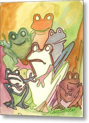 Frog Group Portrait Metal Print by James Christiansen