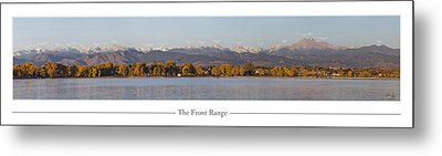 Front Range With Peak Labels Metal Print by Aaron Spong