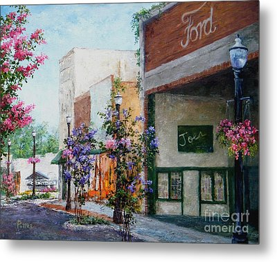 Front Street Metal Print by Virginia Potter
