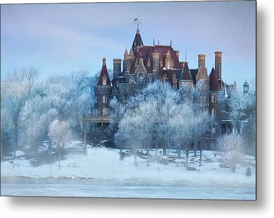 Frosted Castle Metal Print by Lori Deiter