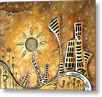 Frosted City By Madart Metal Print by Megan Duncanson