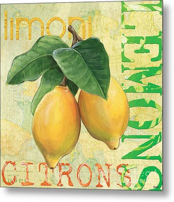 Froyo Lemon Metal Print by Debbie DeWitt