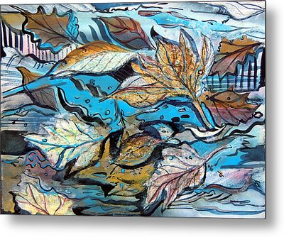 Frozen Pond Metal Print by Mindy Newman