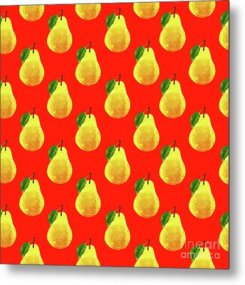 Fruit 03_pear_pattern Metal Print by Bobbi Freelance
