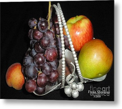 Fruit Basket II Metal Print by Freda Sbordoni