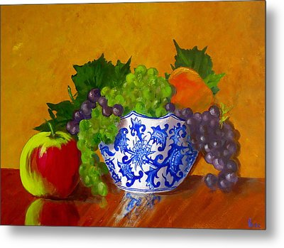 Fruit Bowl II Metal Print by Pete Maier