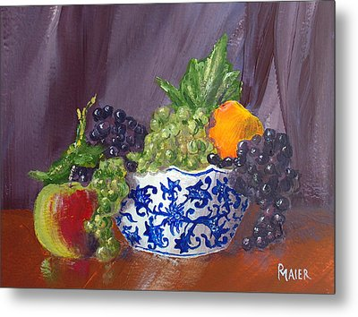 Fruit Bowl Metal Print by Pete Maier
