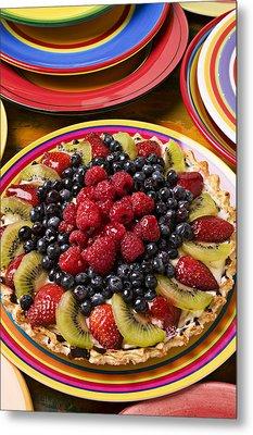 Fruit Tart Pie Metal Print by Garry Gay