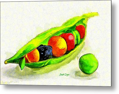 Fruits - Da Metal Print by Leonardo Digenio