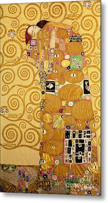 Fulfilment Stoclet Frieze Metal Print by Gustav Klimt