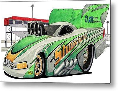 Funny Car Toon Metal Print by Lyle Brown
