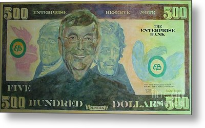 Funny Money Metal Print by Claire Gagnon