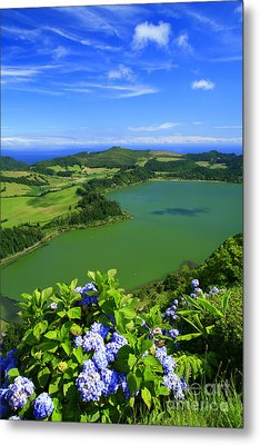 Furnas Lake Metal Print by Gaspar Avila