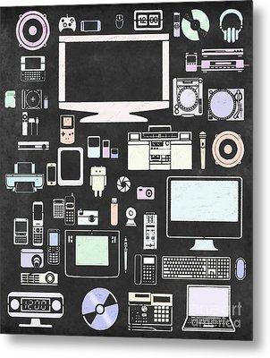 Gadgets Icon Metal Print by Setsiri Silapasuwanchai