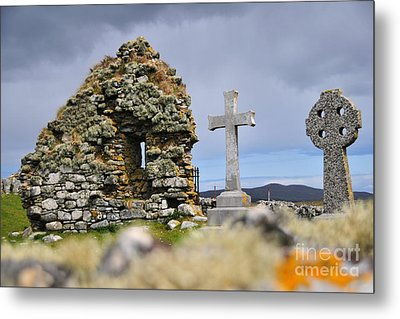 Gaelic Headstone Metal Print by Stephen Smith