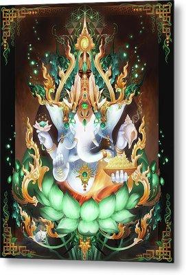 Galactik Ganesh Metal Print by George Atherton