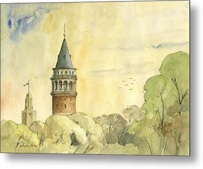 Galata Tower Istanbul Metal Print by Juan Bosco