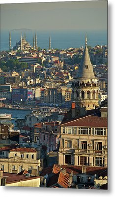Galata Tower Metal Print by Photo by Bernardo Ricci Armani