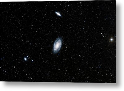 Galaxies M81 And M82 Metal Print by Davide De Martin