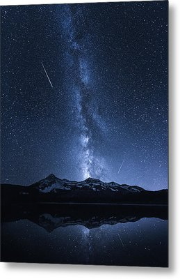 Galaxies Reflection Metal Print by Toby Harriman