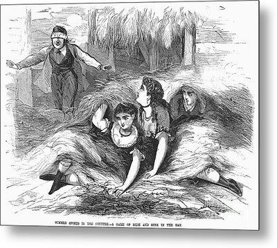 Games: Hide And Seek, 1887 Metal Print by Granger