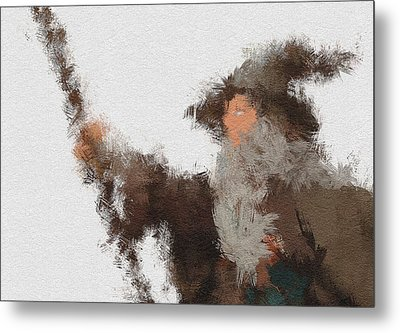 Gandalf The Grey Metal Print by Miranda Sether