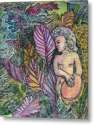 Garden Muse Metal Print by Mindy Newman