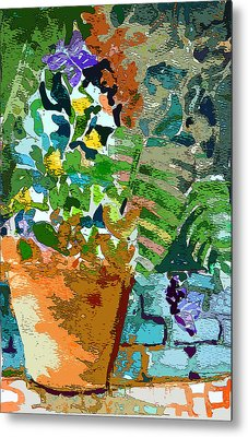 Garden Party Metal Print by Mindy Newman
