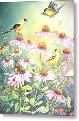 Garden Party Metal Print by Patricia Pushaw