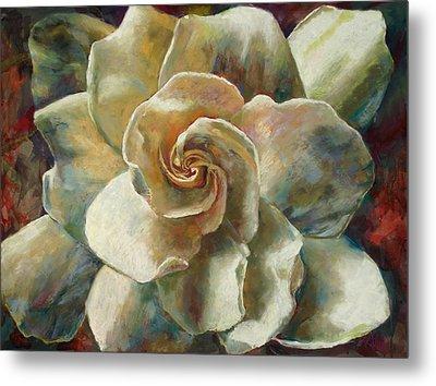 Gardenia Metal Print by Billie Colson
