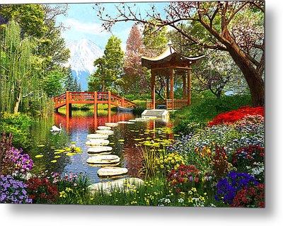 Gardens Of Fuji Metal Print by Dominic Davison