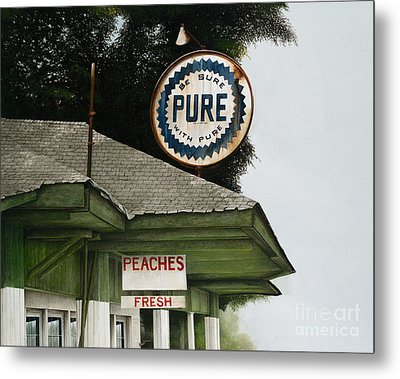 Gardner's Peaches Metal Print by Mike England