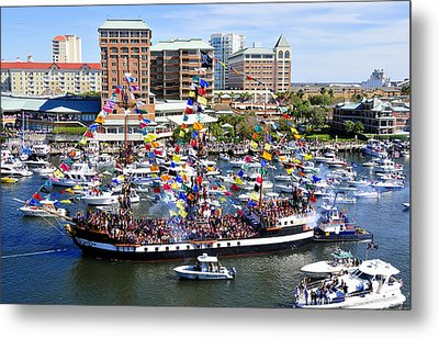 Gasparilla And Harbor Island Florida Metal Print by David Lee Thompson