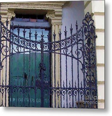 Gated Metal Print by Debbi Granruth