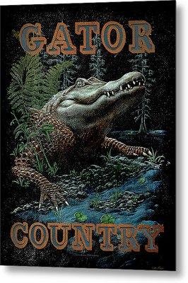 Gator Country Metal Print by JQ Licensing