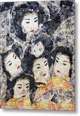 Geisha Metal Print by Shelley Jones