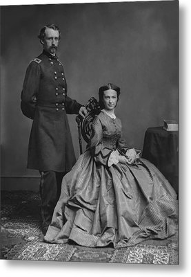 General Custer And His Wife Libbie Metal Print by War Is Hell Store