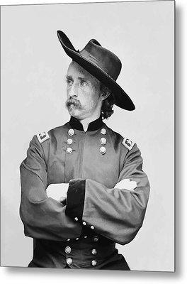 General Custer Metal Print by War Is Hell Store