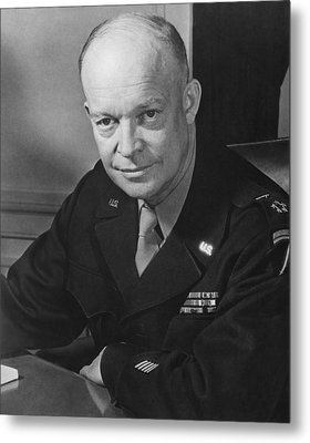 General Dwight Eisenhower Metal Print by War Is Hell Store