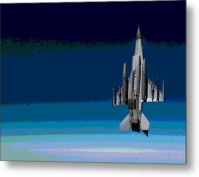 General Dynamics F-16 Fighting Falcon Enhanced Metal Print by L Brown