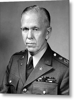 General George Marshall Metal Print by War Is Hell Store