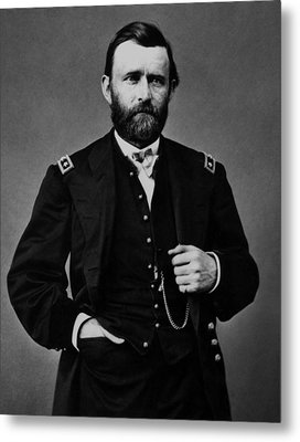 General Grant During The Civil War Metal Print by War Is Hell Store
