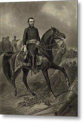 General Grant On Horseback  Metal Print by War Is Hell Store